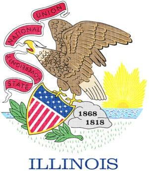Illinois eagle flag.